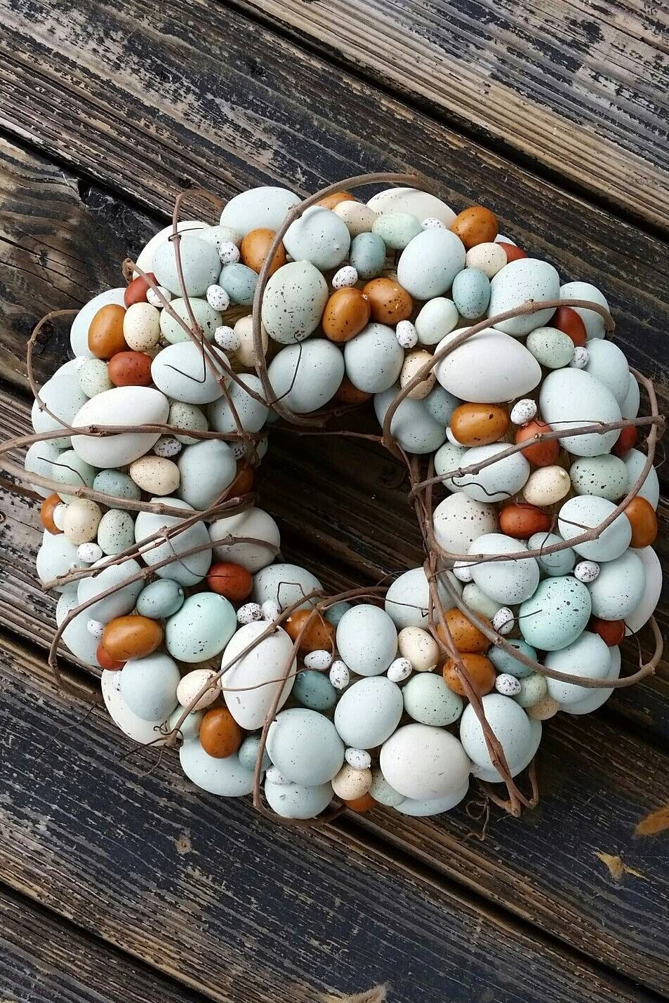 easter wreath ideas, easter egg wreath