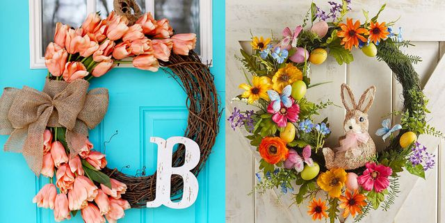 30 Gorgeous Easter Wreaths Ideas For Easter Door Decorations To Make