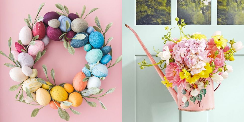 20 Cheery Easter Wreaths You Can Keep on Your Front Door All Spring