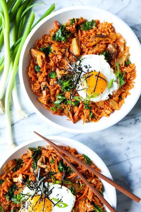 easy asian recipes  kimchi fried rice