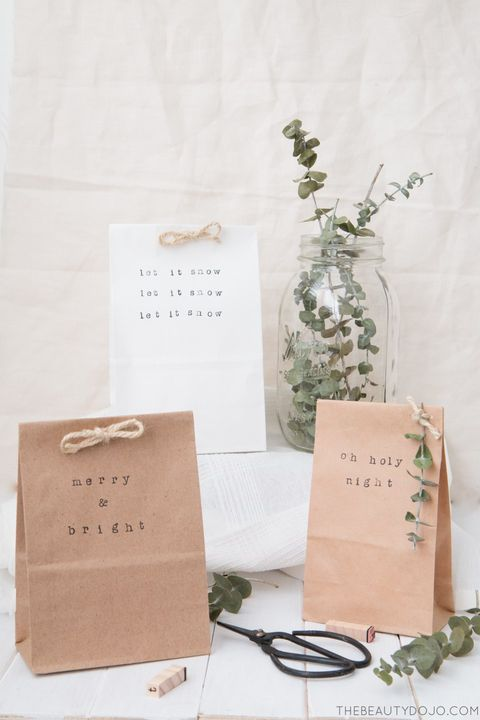 diy paper bag gift wrap