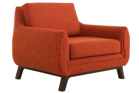 Furniture, Chair, Orange, Club chair, Comfort, Outdoor sofa, Outdoor furniture, Wood, Armrest, Futon pad,