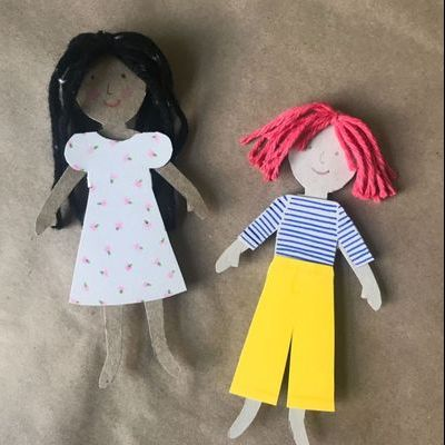 easy crafts for kids paper dolls
