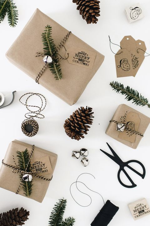 easy gift wrap idea - 39 Unique Gift Wrapping Ideas For Christmas - How To Wrap Holiday