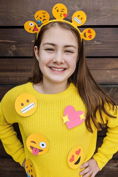 easy halloween costumes emoji headband