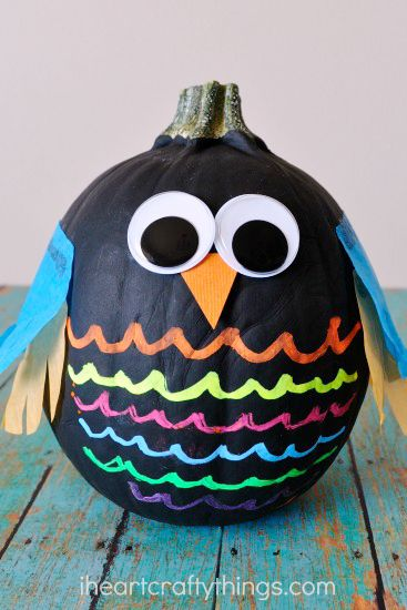 halloween crafts for kids painted pumpkin owl