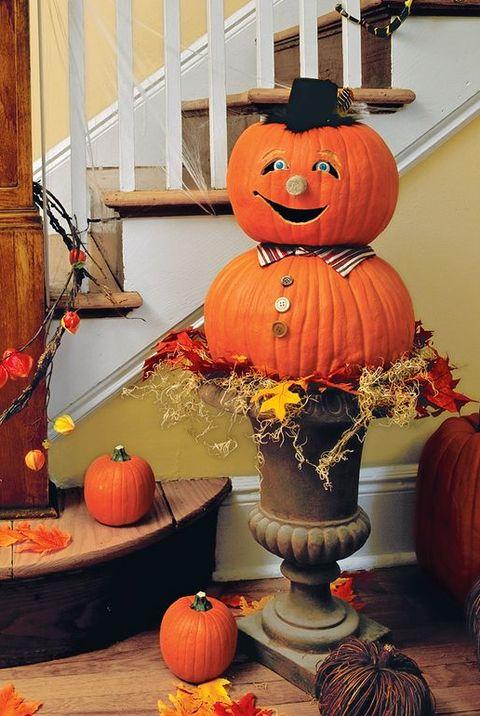easy halloween decorations urn est pumpkin
