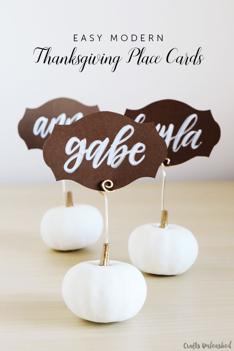 25 Easy Diy Thanksgiving Place Card Ideas And Templates