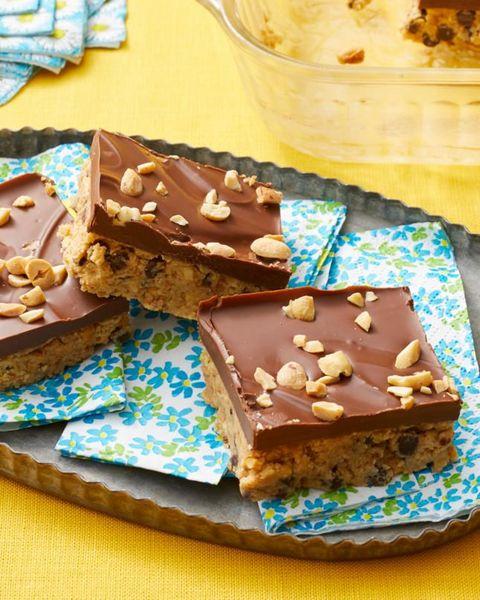 easy no bake desserts no bake peanut butter bars