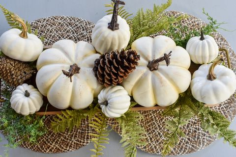 easy pumpkin fall centerpiece