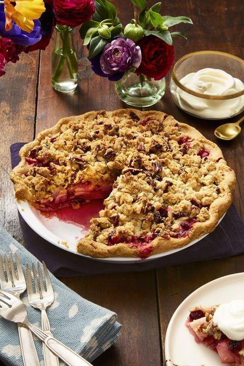 easy thanksgiving desserts cranberry pear pecan crumb pie