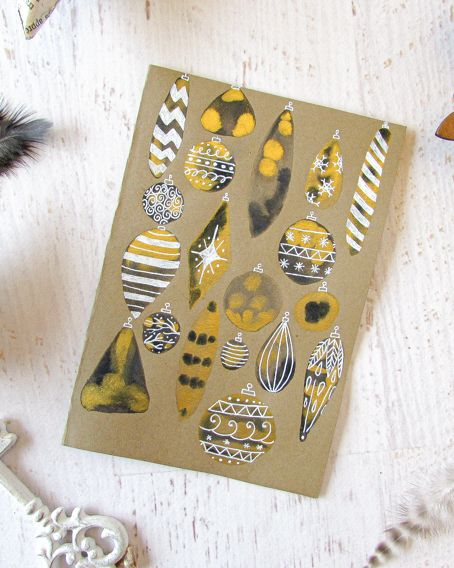 easy watercolor diy christmas cards