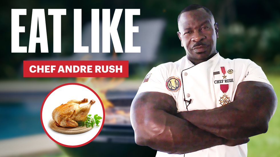 'Jacked Chef' Andre Rush Eats Up to 10,000 Calories a Day thumbnail