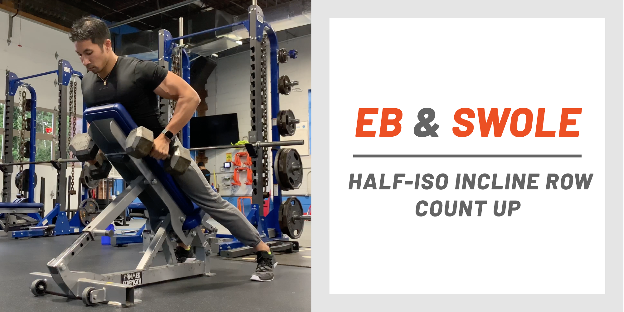Build Your Back Muscles With The Half Iso Incline Row Count Up