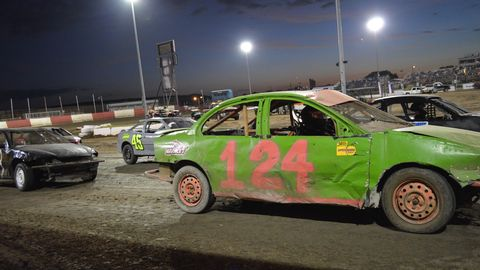 Dirt racing in Florida on a Saturday night