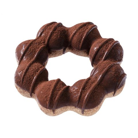 咖啡色的巧克力甜甜圈