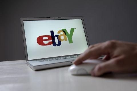 ebay company logo on a notebook