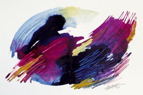 Purple, Magenta, Violet, Colorfulness, Paint, Pink, Art paint, Art, Watercolor paint, Artwork,