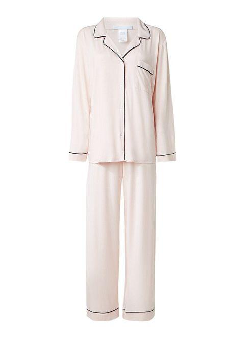 Eberjey pyjamaset met contrasterende bies