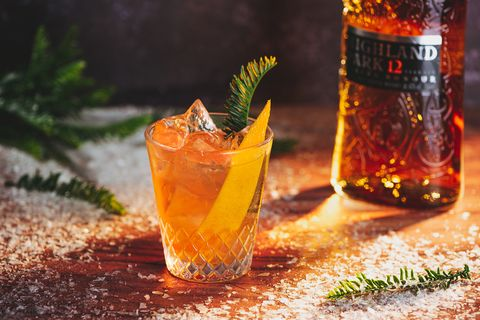 Salted Honey Old Fashioned cocktail