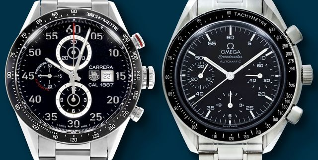 tag heuer and omega luxury watches