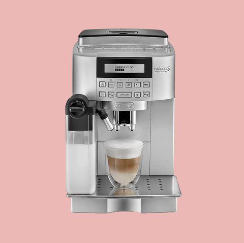 Espresso machine, Small appliance, Drip coffee maker, Coffee grinder, Home appliance, Coffeemaker, Kitchen appliance, Espresso, Drink, Cappuccino,