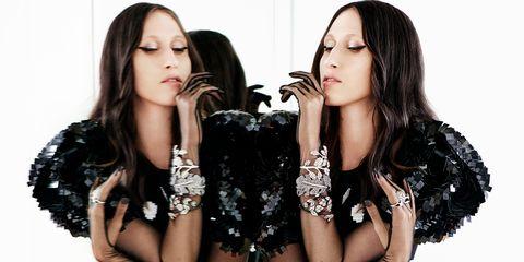 Hair, Fashion model, Photo shoot, Beauty, Hairstyle, Black hair, Lip, Long hair, Eyelash, Photography,
