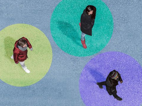 Organism, People in nature, Animation, Illustration, Circle, Fictional character, Painting,