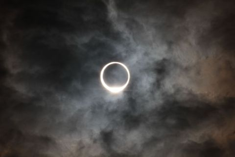 eclipse of the sun like ring日環食