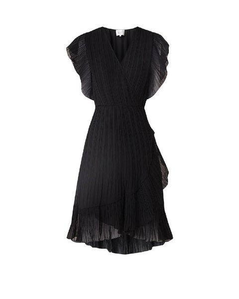 Clothing, Dress, Black, Day dress, Cocktail dress, Little black dress, Formal wear, Sleeve, Neck, Gown,