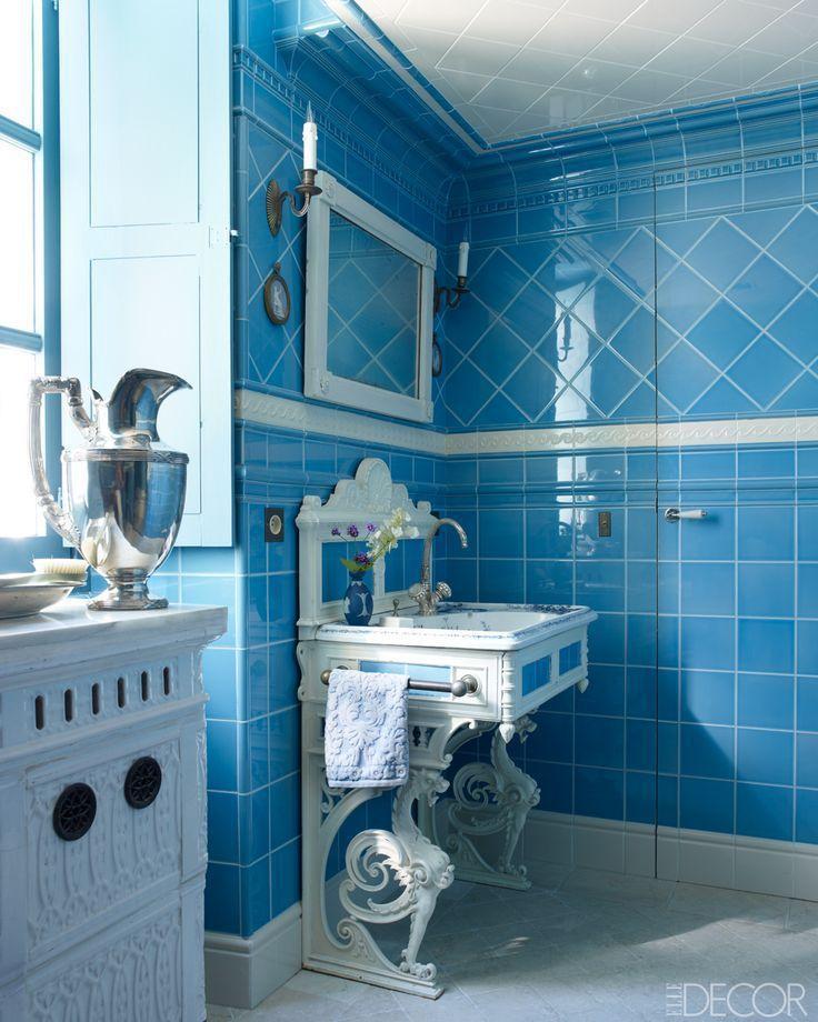 William Waldron. Cerulean Blue Bathroom