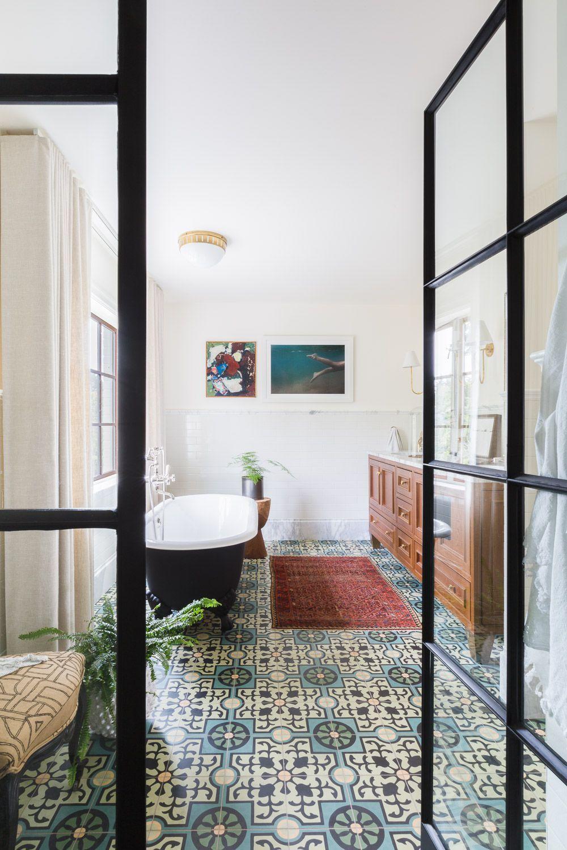 Attractive Alyssa Rosenheck. Patterned Tile Bathroom