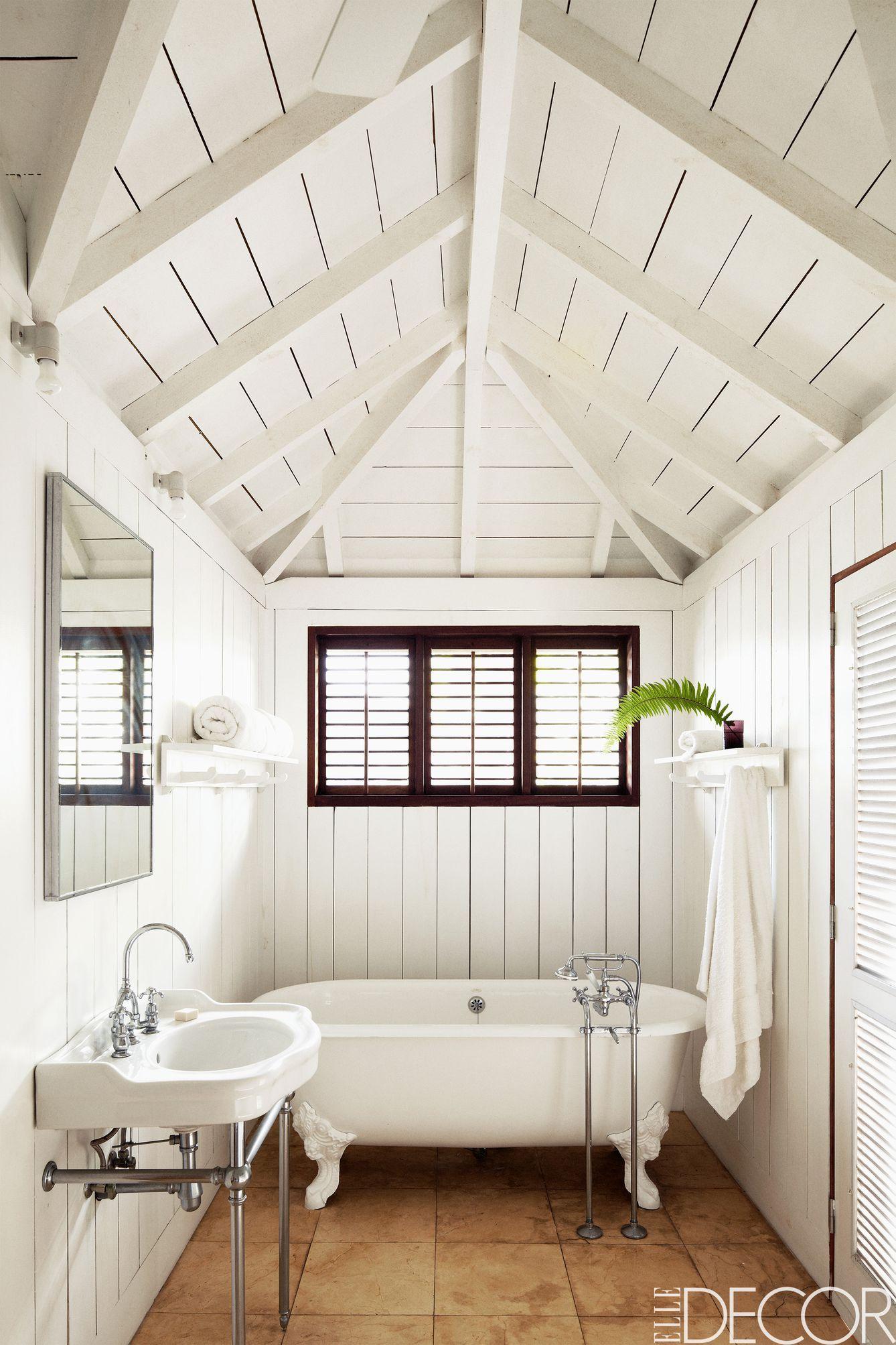 William Abranowicz. Beachy White Bathroom