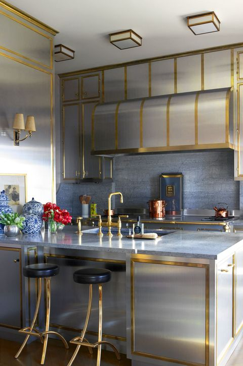 Countertop, Room, Kitchen, Cabinetry, Furniture, Interior design, Property, Yellow, Building, Ceiling,