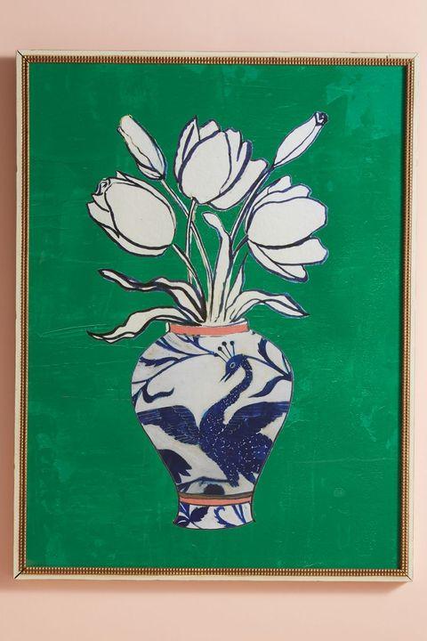 Wall sticker, Green, Wall, Room, Furniture, Tree, Plant, Modern art, Branch, Art,
