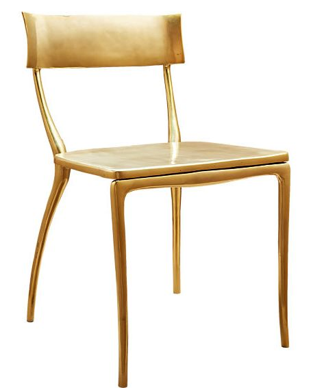 courtesy midas gold dining chair - Garden Chairs