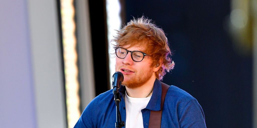 Ed Sheeran singing