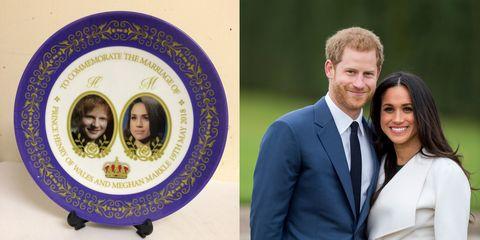 Ed Sheeran Royal Wedding Plate
