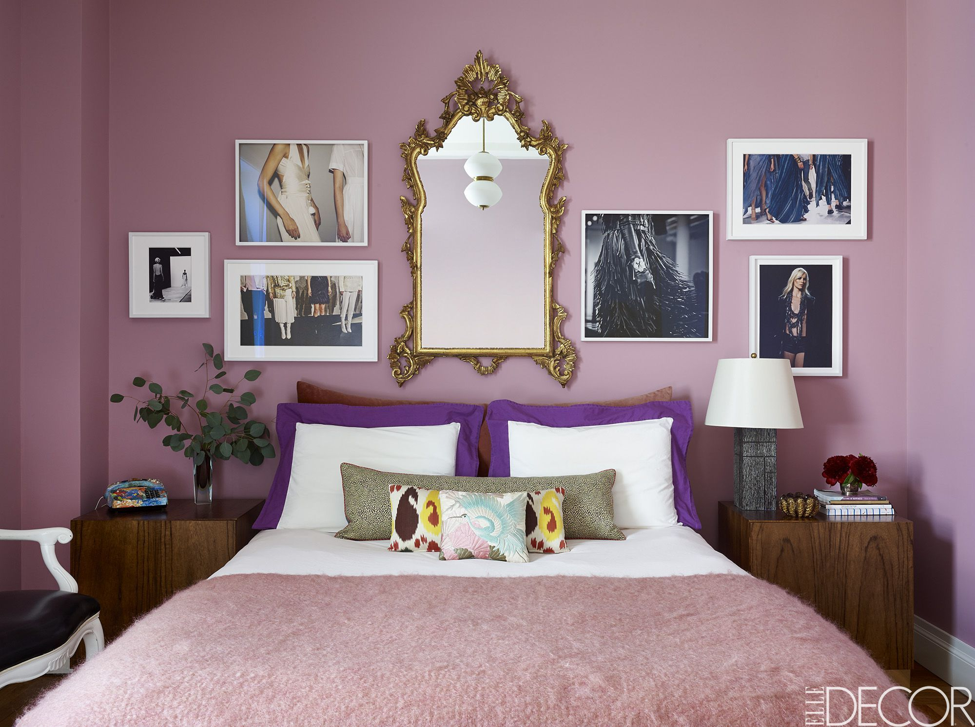Attractive Joshua McHugh. Artsy Lilac Bedroom