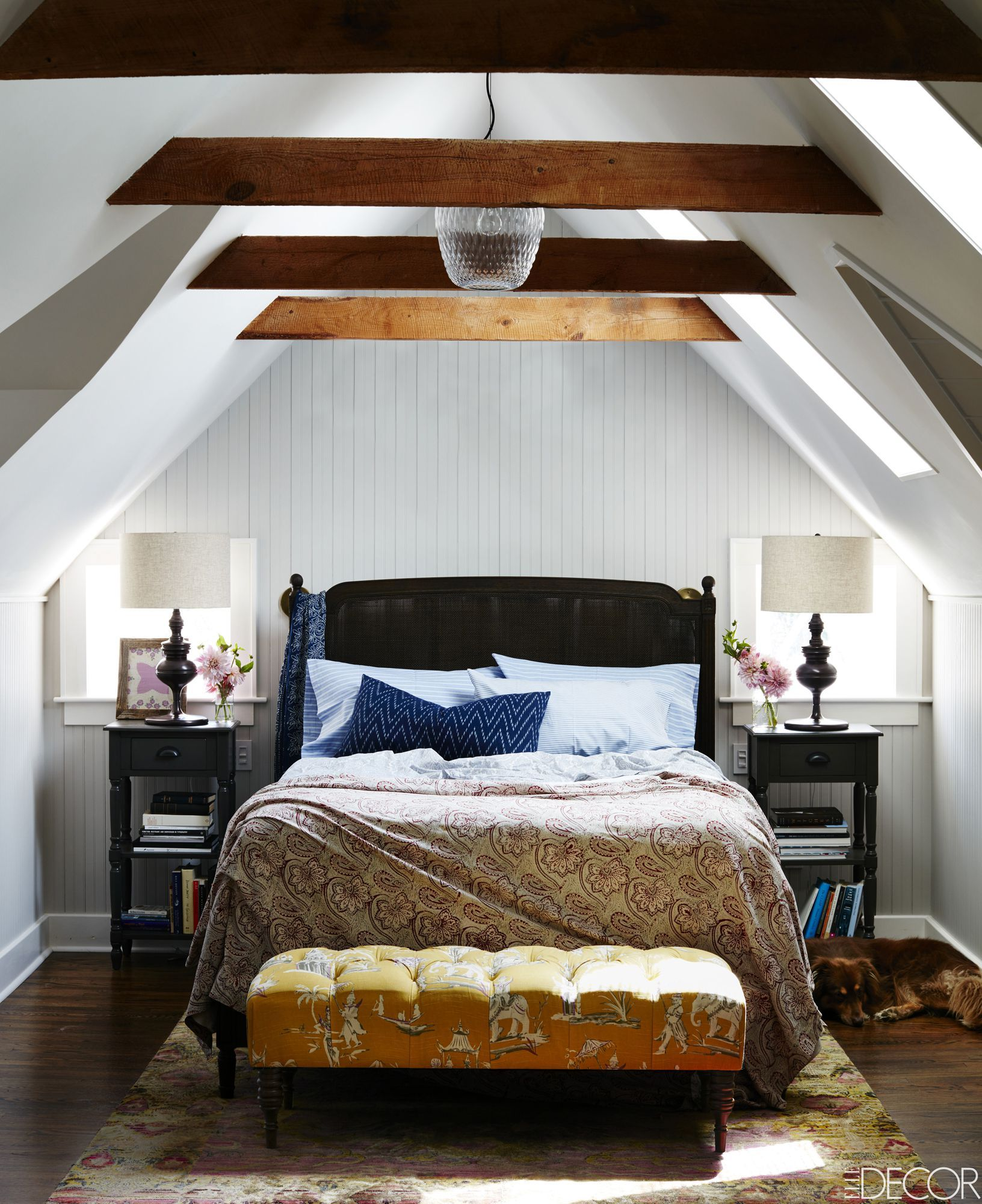 Stephen Kent Johnson. Warm White Bedroom & 43 Small Bedroom Design Ideas - Decorating Tips for Small Bedrooms