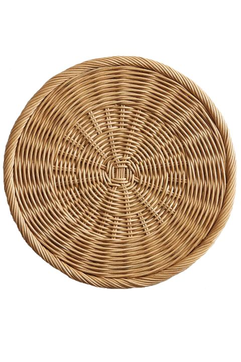 Basket, Wicker, Storage basket, Circle, Table, Furniture, Stool, Home accessories, Coffee table,