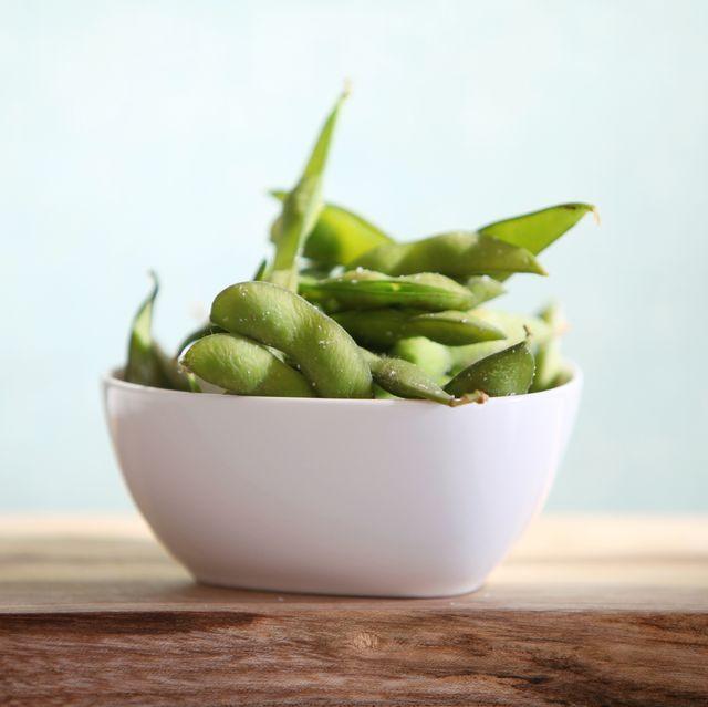 Edamame, Food, Vegetable, Plant, Side dish, Flowerpot, Still life photography, Dish, Bowl, Superfood,