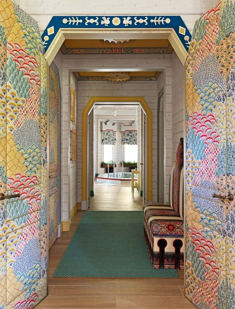 A Russian Bathhouse Overflowing With Eye Popping Fabrics
