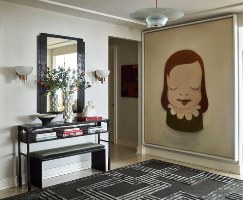 david kleinberg design associated entryway with artwork by nara