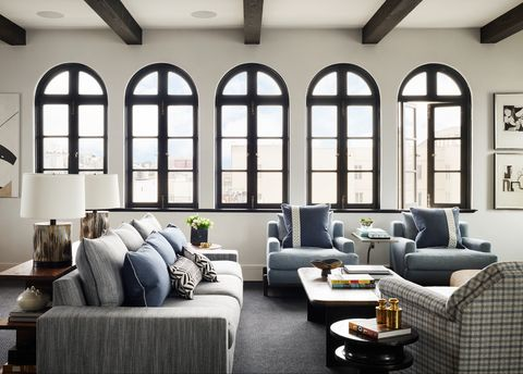 Living room, Room, Furniture, Interior design, Building, Ceiling, Couch, Property, Coffee table, Wall,