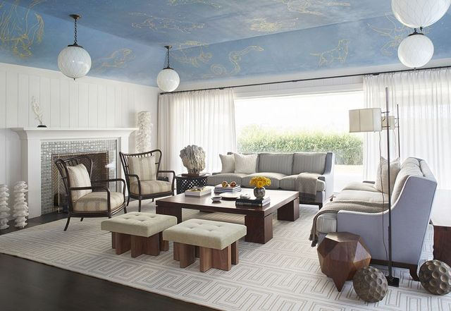 the living room of a quogue beach house designed by rodney lawrence