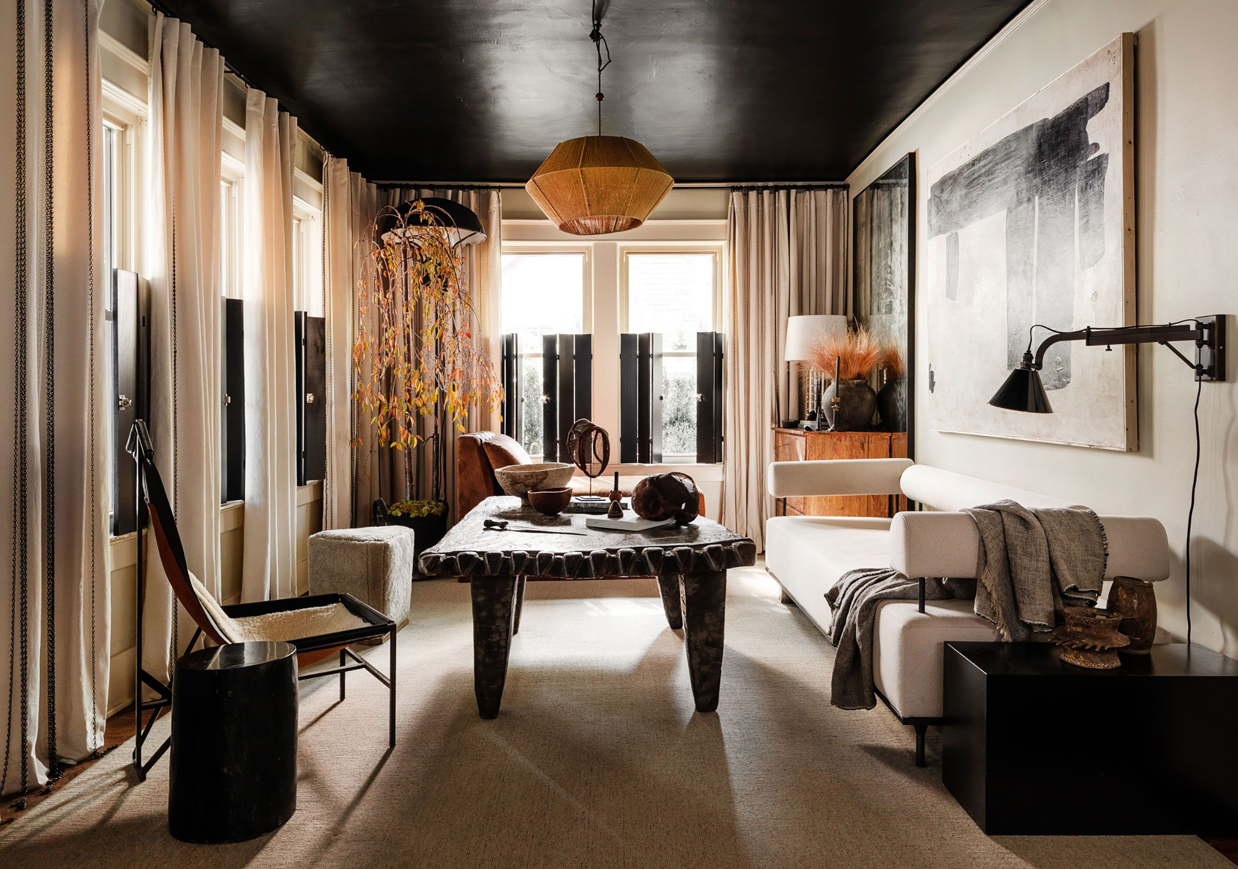 Texture and Handmade Touches Define This Moody Memphis Bungalow