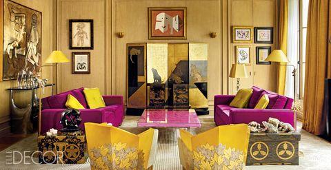 Linda Pinto Living Room - ELLE Decor