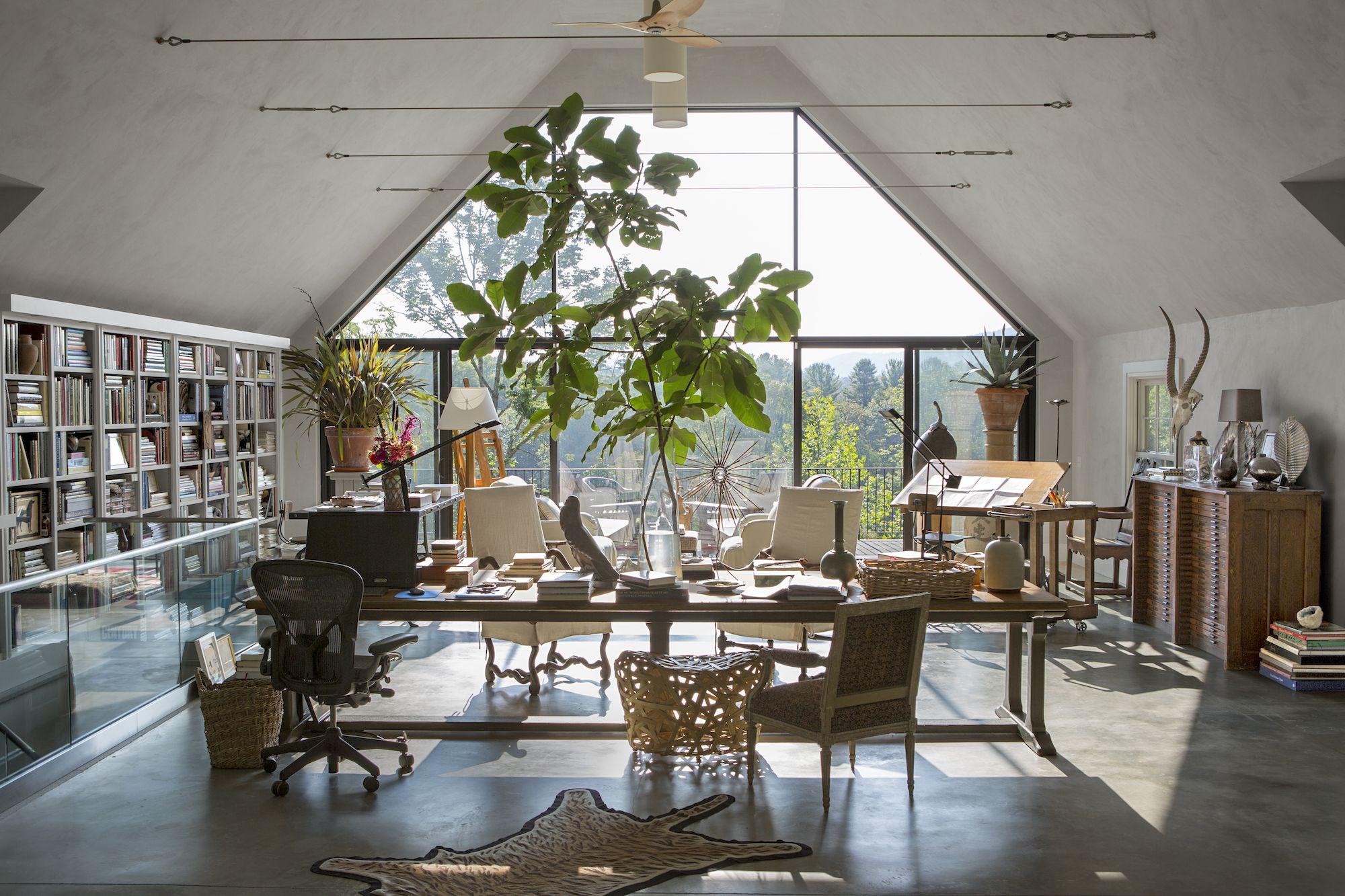 Inside Bunny Williams Connecticut Studio Airy Studio Space