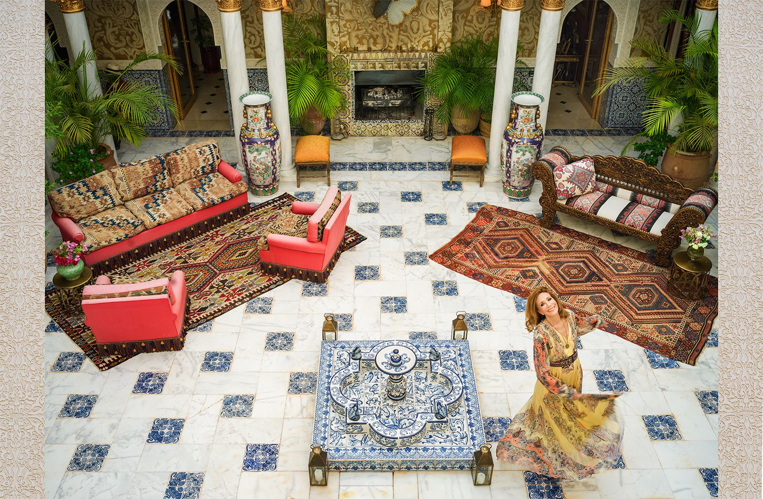 Marisa Berenson's Creative Talents Are on Display in Her Marrakech Home